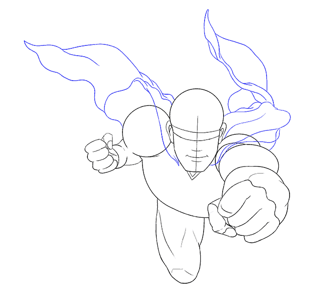Cómo dibujar a Superman: Paso 12