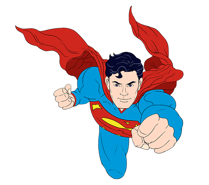 How to Draw Superman: Step 21
