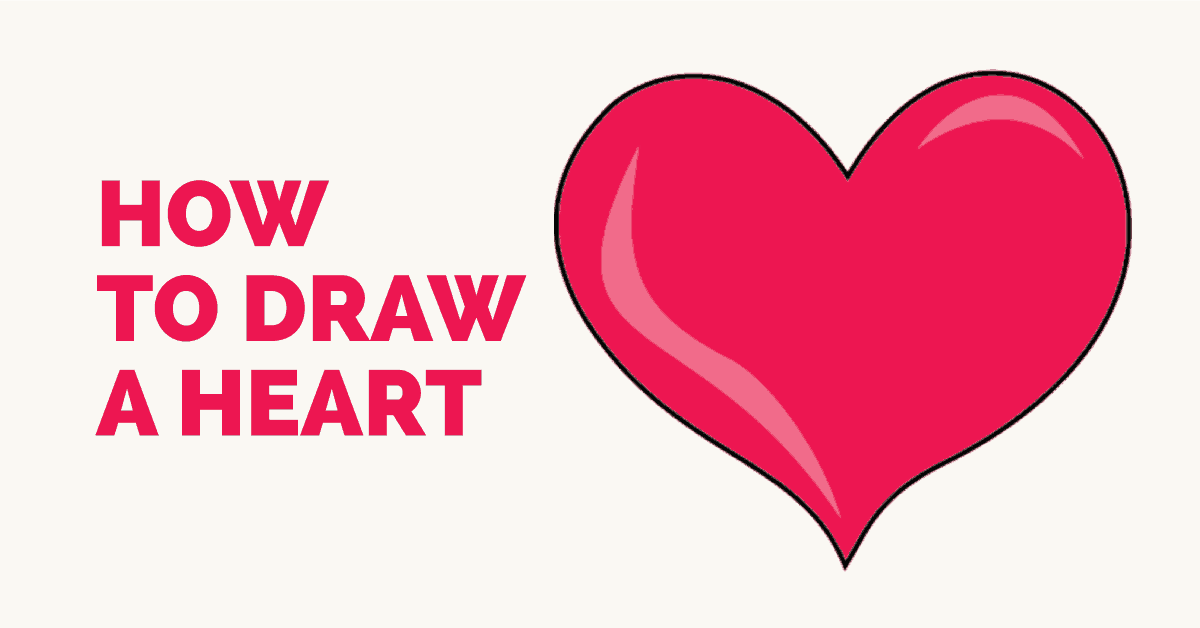 How To Draw A Heart Step By Step Tutorial Easy Drawing