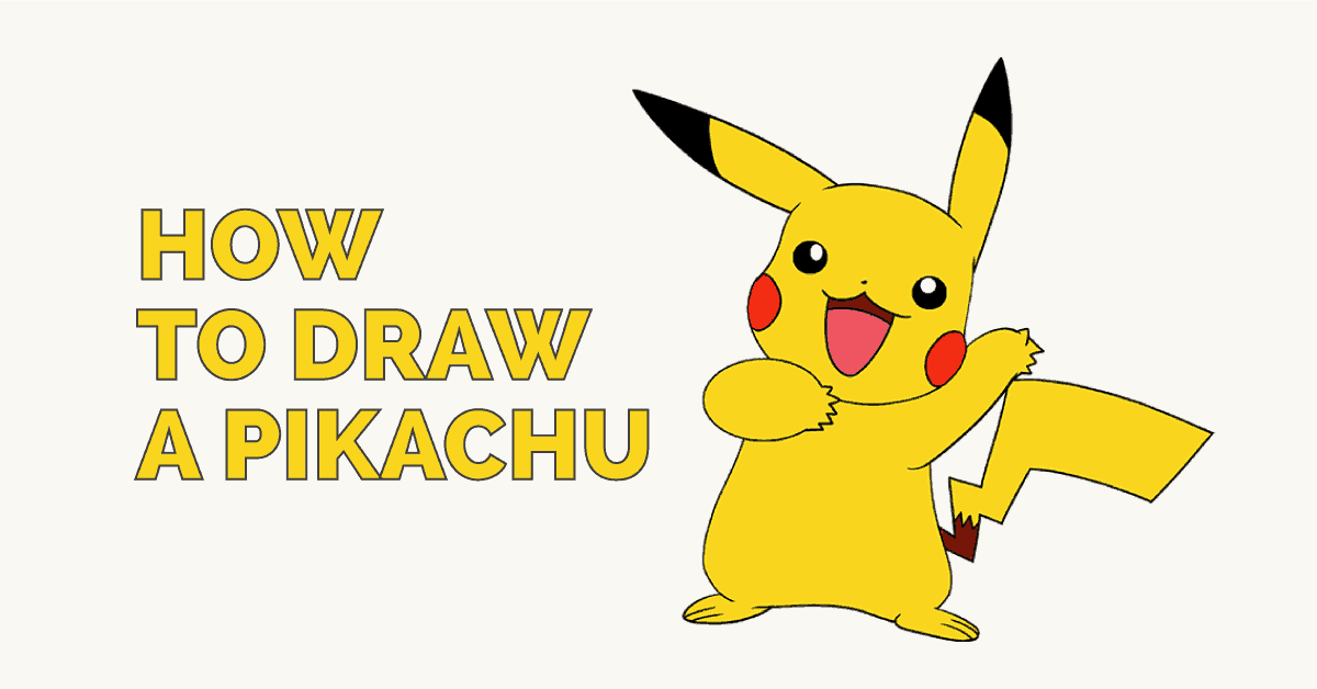 How To Draw A Pikachu Easy Drawing Guides