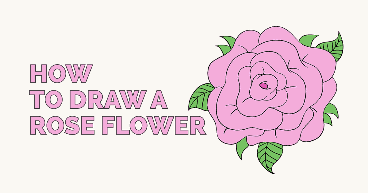 How to Draw a Rose Flower: Featured Image