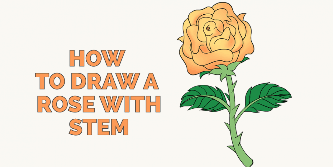 How to Draw a Rose with Stem: Featured Image