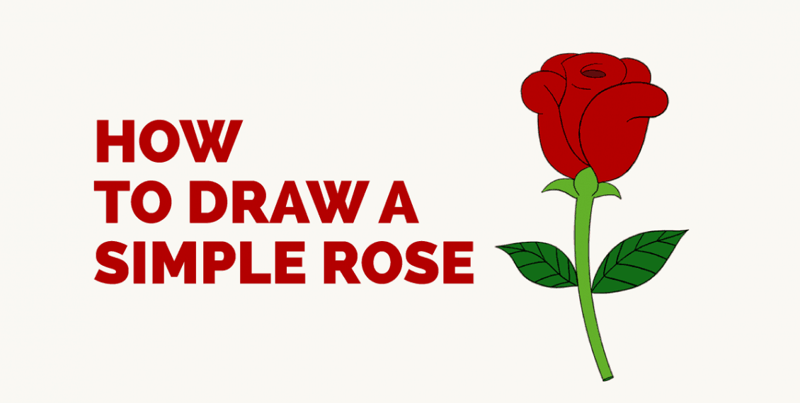 How to Draw a Simple Rose: Featured Image