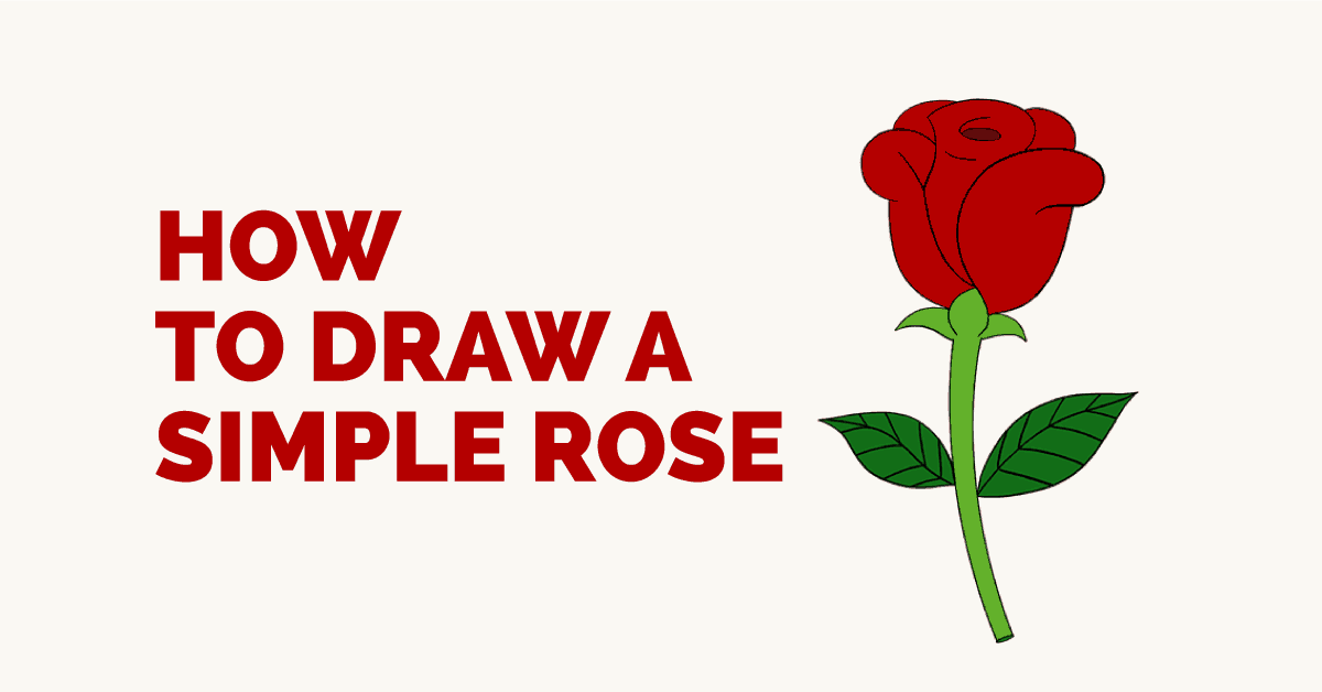 How To Draw A Simple Rose Easy Drawing Guides