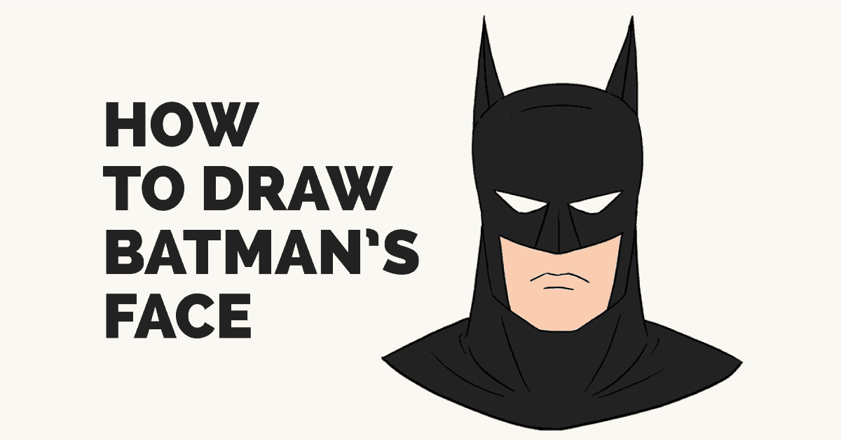 How to Draw Batman's Face: Featured Image