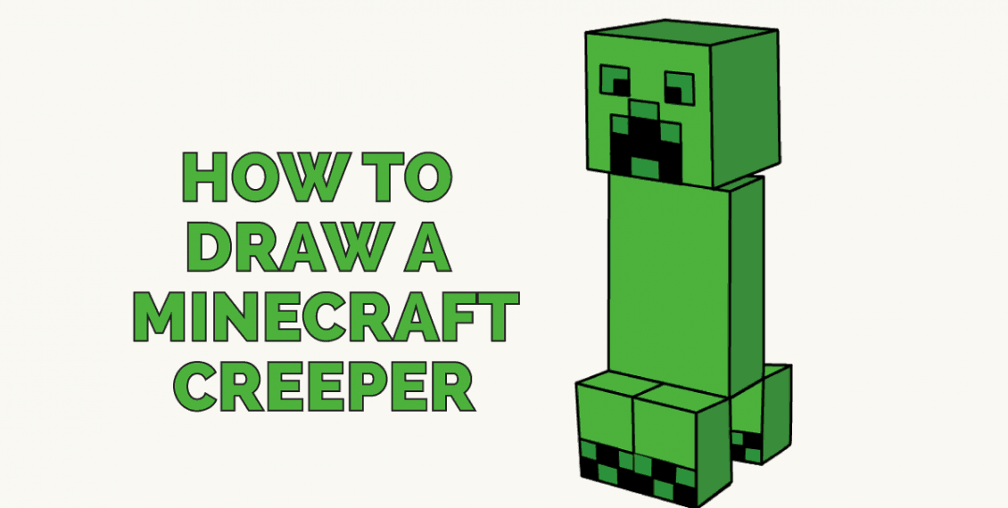 How to Draw a Minecraft Creeper: Featured Image