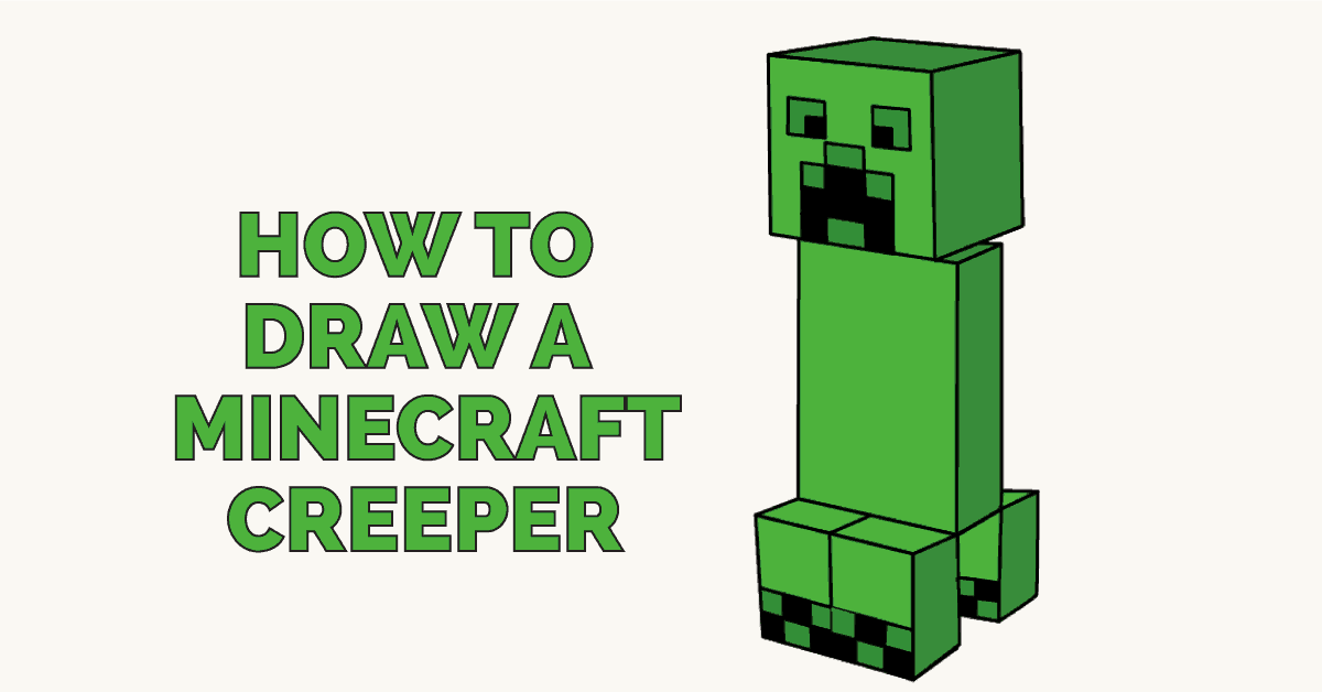 Image of: Draw Steve How To Draw Minecraft Creeper Featured Image Easy Drawing Guides How To Draw Minecraft Creeper Easy Stepbystep Drawing Guides