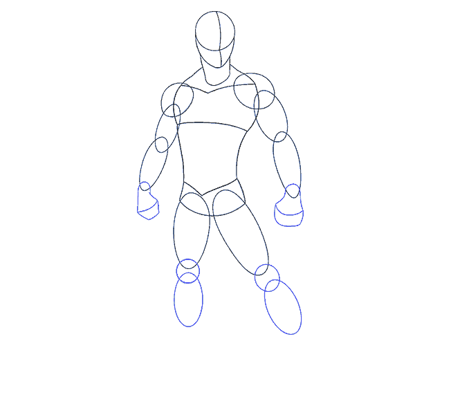 How to draw spiderman Step: 9