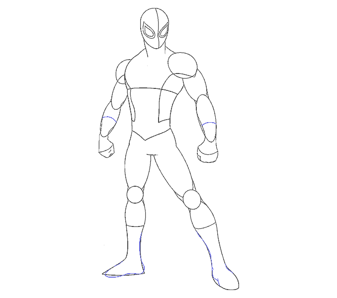 How to draw spiderman Step: 14