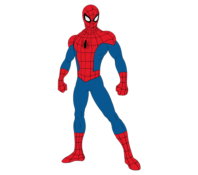 How to draw spiderman Step: 20