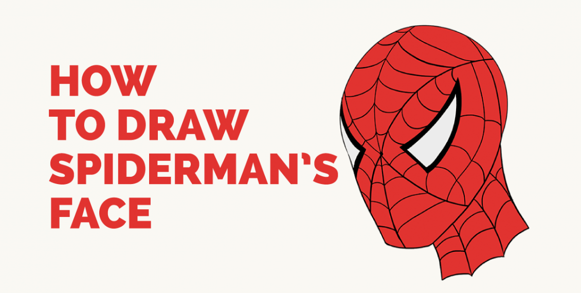 How Draw Spiderman's Face - Featured Image