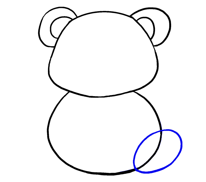 How to Draw Cartoon Panda: Step 7
