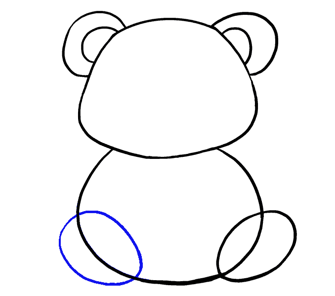 How to Draw Cartoon Panda: Step 8