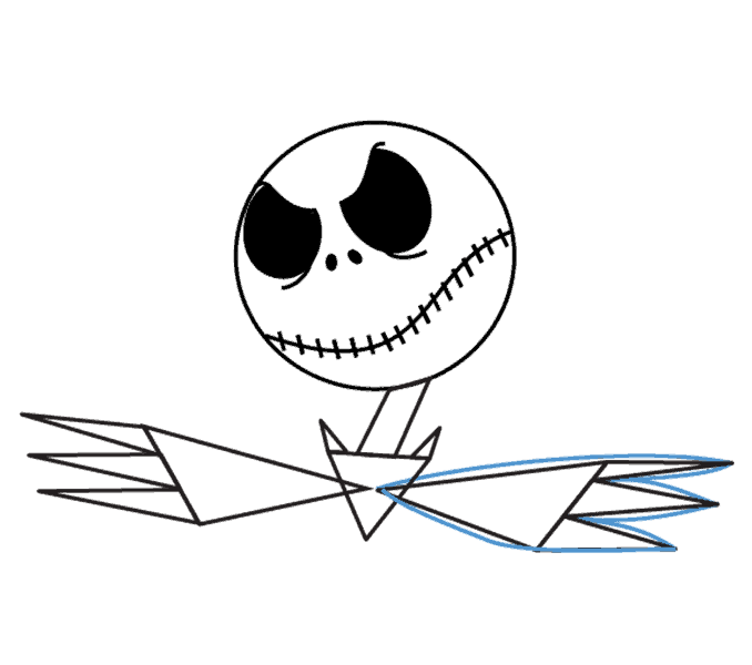 How to Draw Jack Skellington: Step 10