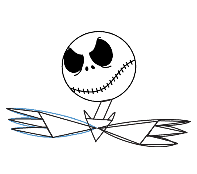 How to Draw Jack Skellington: Step 11