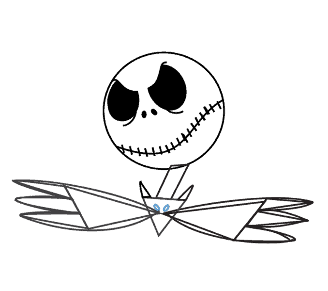 How to Draw Jack Skellington: Step 12