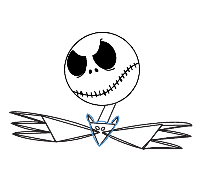 How to Draw Jack Skellington: Step 13