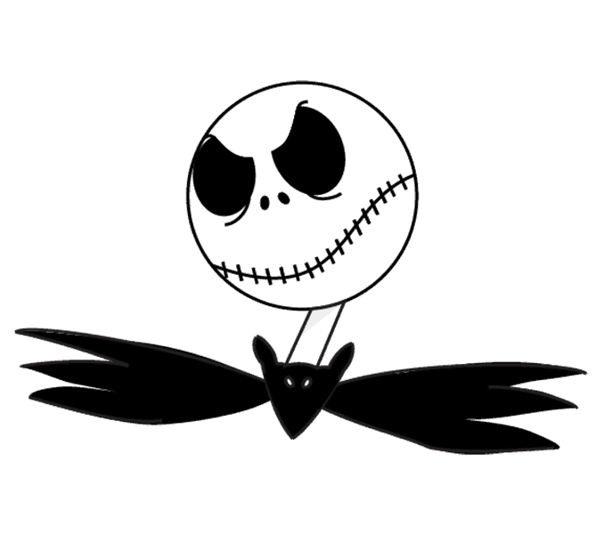 How to Draw Jack Skellington: Step 15