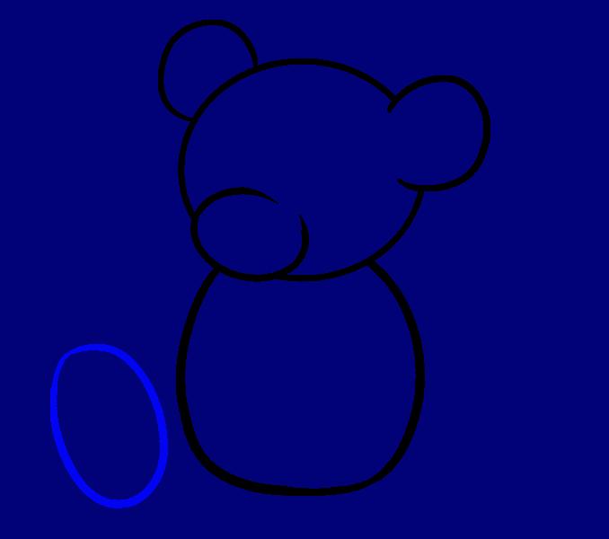 How to Draw Cartoon Bear: Step 6