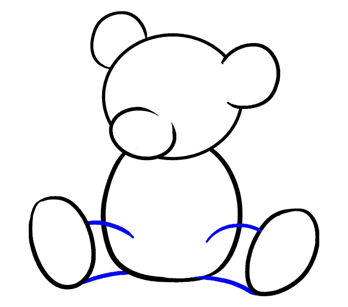 How to Draw Cartoon Bear: Step 8
