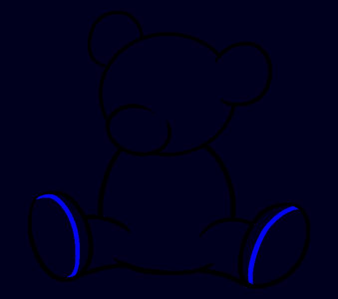 How to Draw Cartoon Bear: Step 10