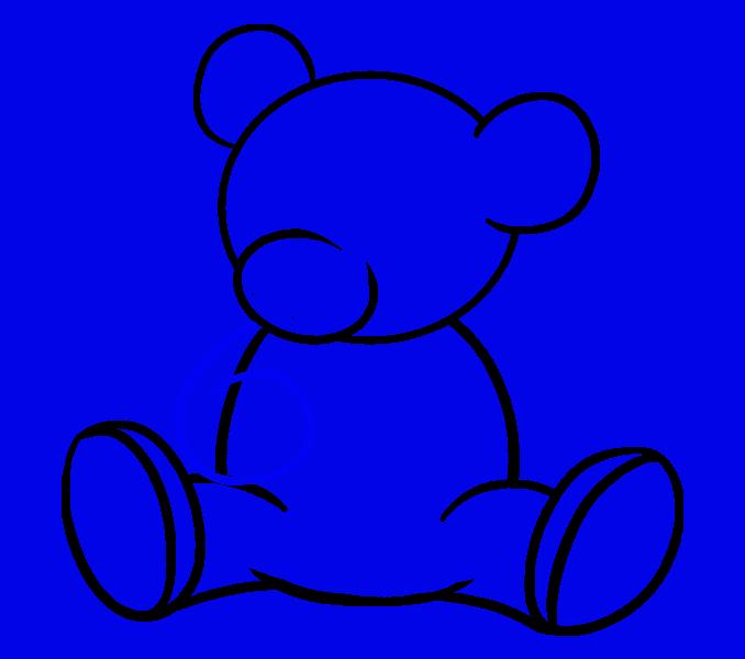How to Draw Cartoon Bear: Step 11