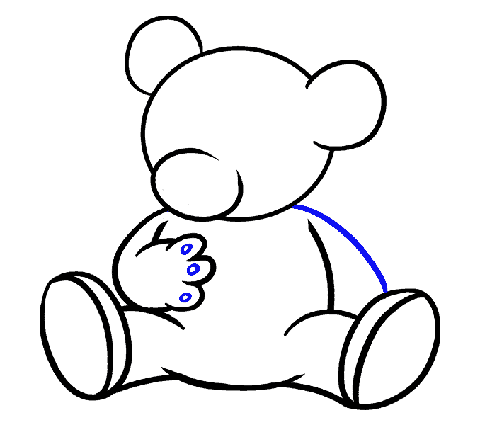 How to Draw Cartoon Bear: Step 14