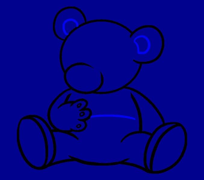How to Draw Cartoon Bear: Step 15