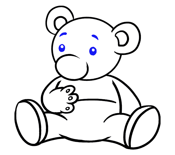 How to Draw Cartoon Bear: Step 16