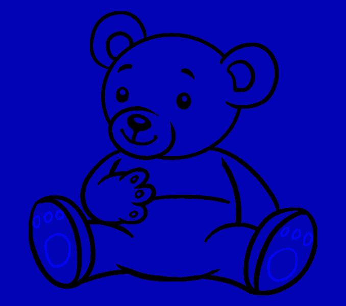 How to Draw Cartoon Bear: Step 18