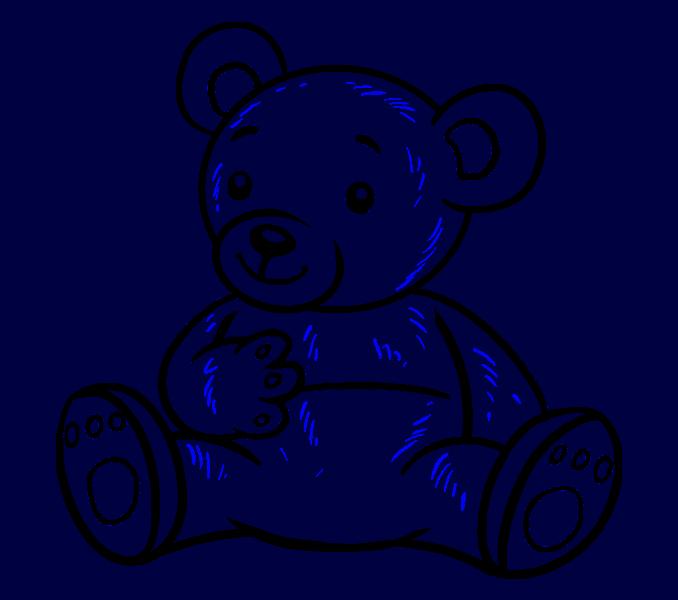 How to Draw Cartoon Bear: Step 19