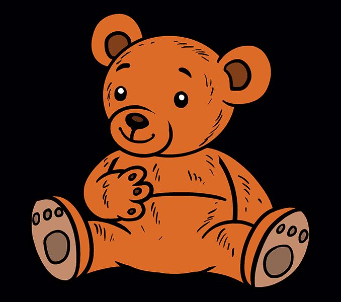 How to Draw Cartoon Bear: Step 20