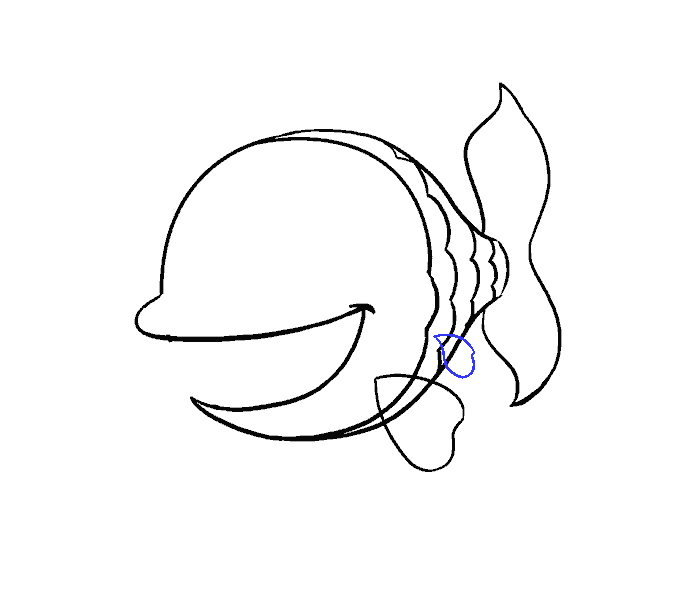 How to Draw Cartoon Fish: Step 10