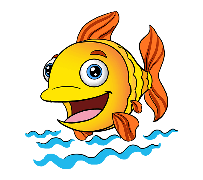 How to Draw Cartoon Fish: Step 20