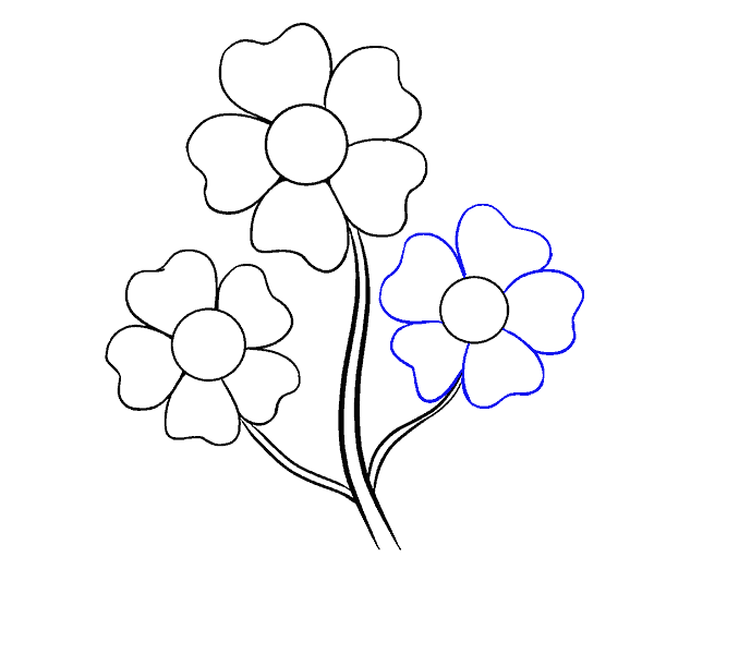 How to Draw Cartoon Flowers: Step 10