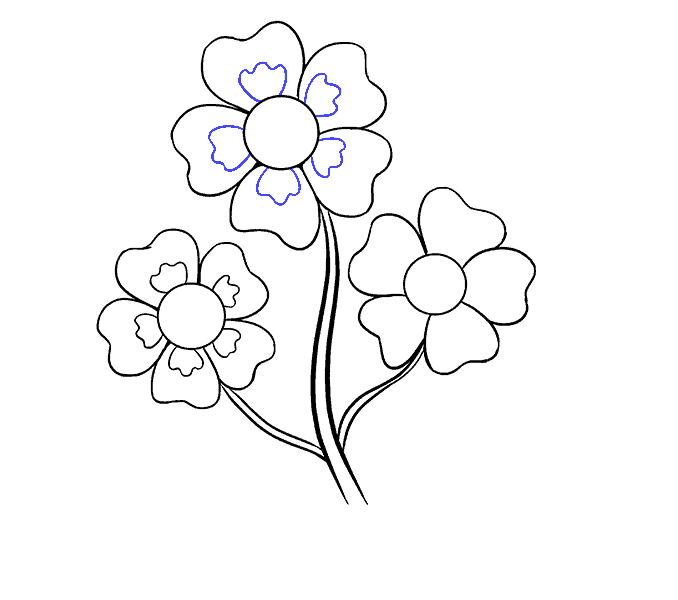 How to Draw Cartoon Flowers: Step 12