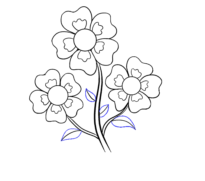 How to Draw Cartoon Flowers: Step 15