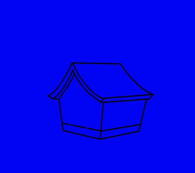 How to draw a cartoon house Step: 10