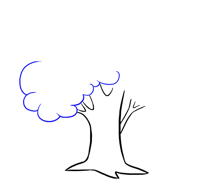 How to Draw Cartoon Tree: Step 6