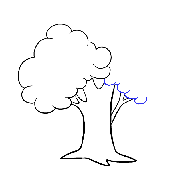 How to Draw Cartoon Tree: Step 8