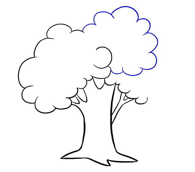 How to Draw Cartoon Tree: Step 10