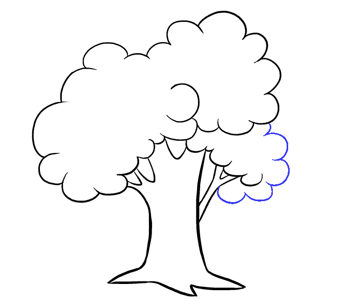 How to Draw Cartoon Tree: Step 11