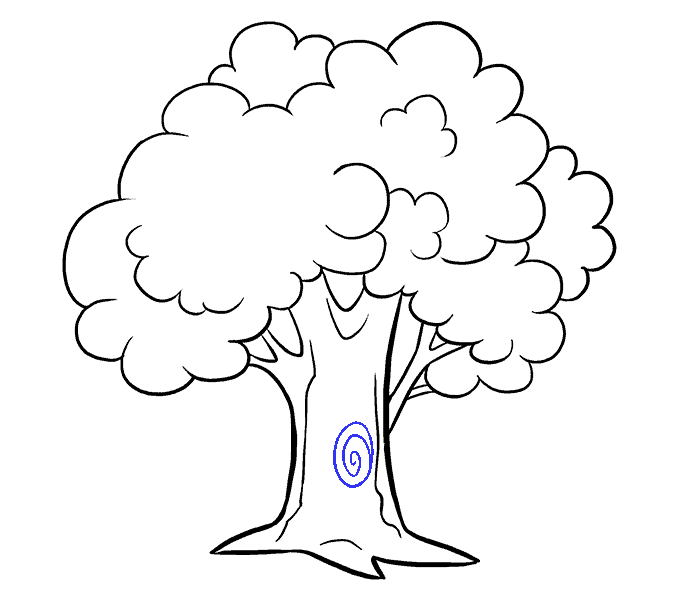 How to Draw Cartoon Tree: Step 18