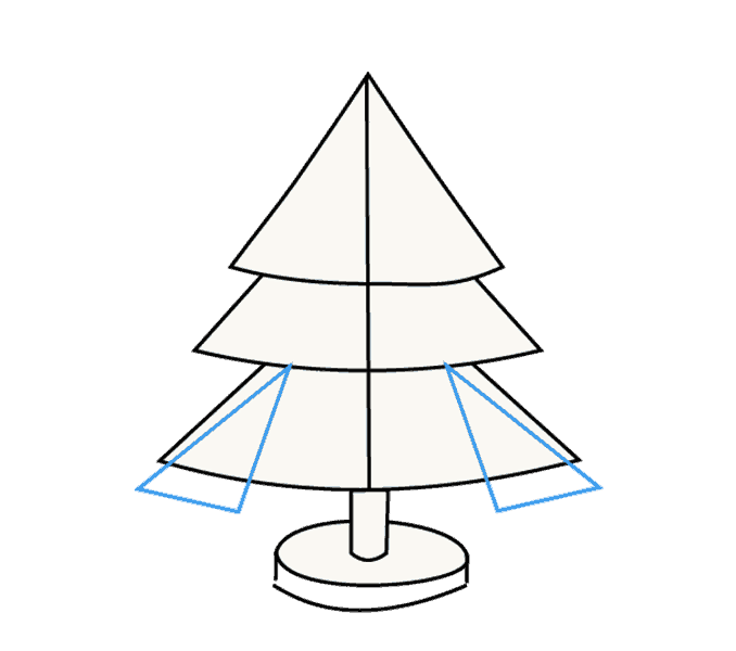 How to Draw Christmas Tree: Step 11