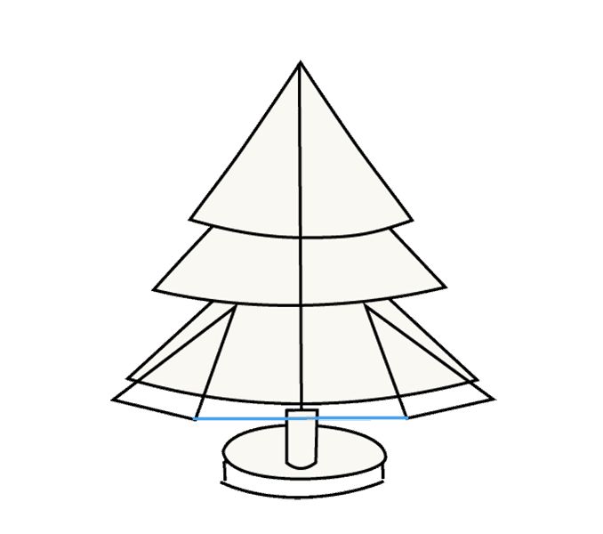 How to Draw Christmas Tree: Step 12