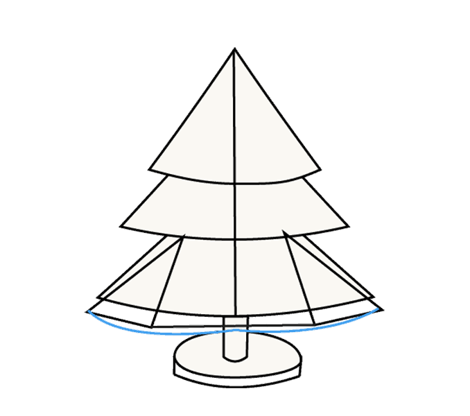 How to Draw Christmas Tree: Step 13