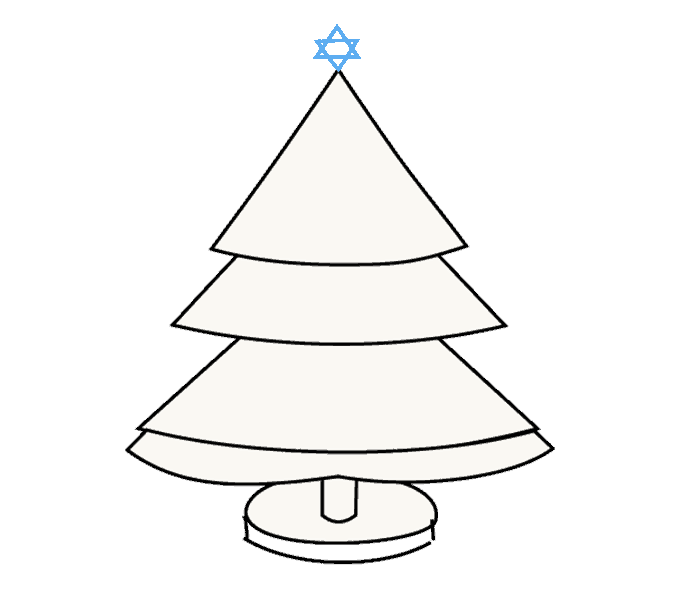 How to Draw Christmas Tree: Step 14