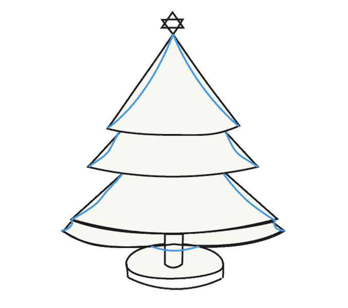 How to Draw Christmas Tree: Step 15