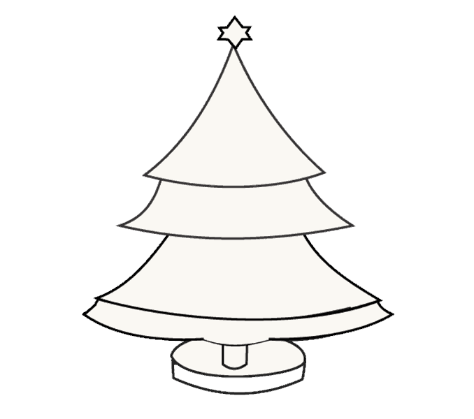 How to Draw Christmas Tree: Step 16