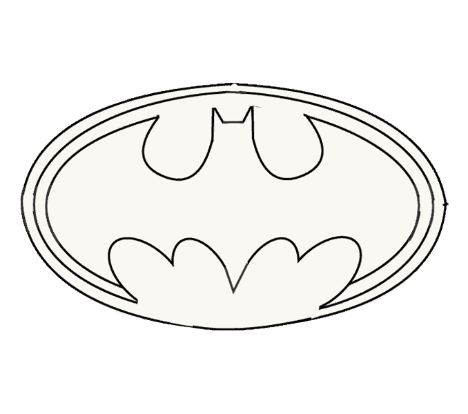 How to Draw Batman Logo: Step 12